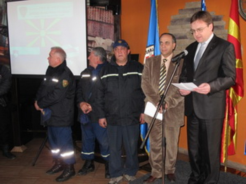 The completion ceremony at Lake Ohrid, Macedonia