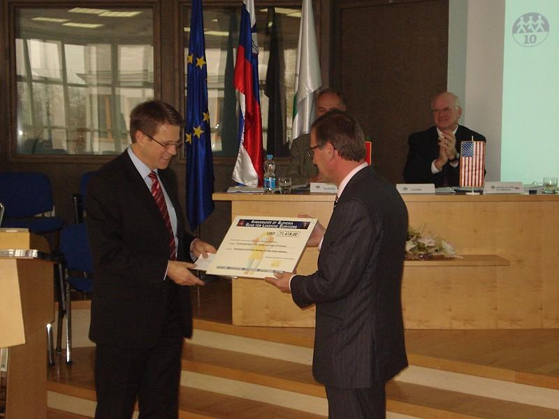 "Closing Ceremony of the Campaign ""Ambassador of Slovenia Runs for Landmine Survivors"""