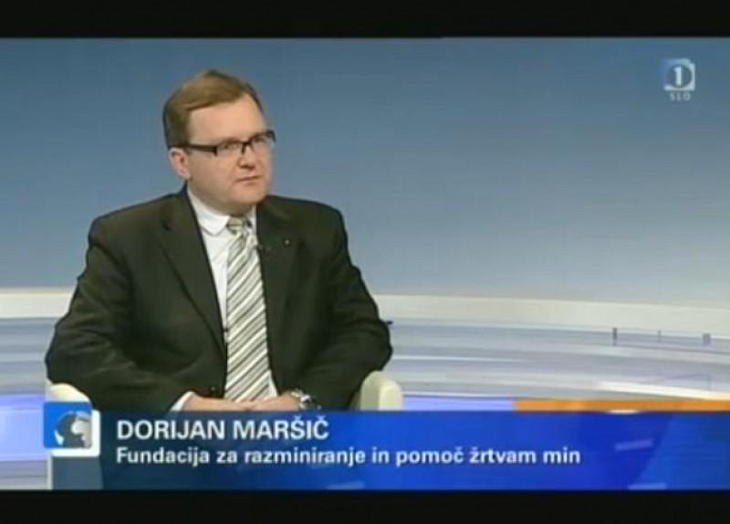 """Mr Dorijan Maršič, ITF Director in """"Odmevi"""" (TV SLO 1)"""