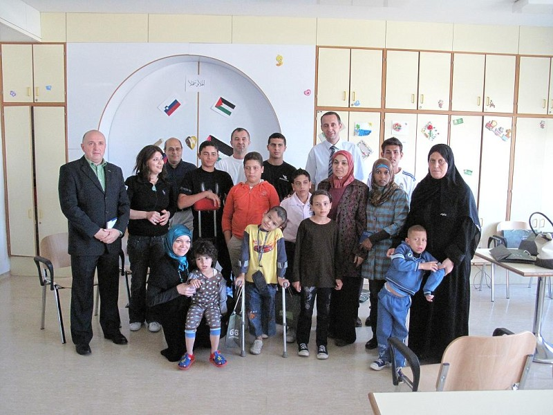 The eighth group of children from Gaza on rehabilitation treatment in Slovenia