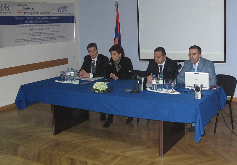 Awareness Campaign on Socio-Economic Reintegration of Mine Victims in Armenia