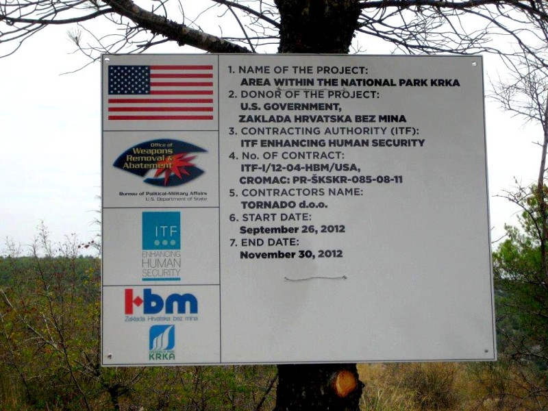 "Demining works on the Project ""Area of national park Krka"" in Šibenik knin county in Croatia started in september 2012"