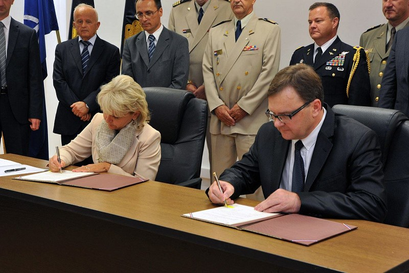 Memorandum of Understanding on Cooperation in the field of ammunition and explosive management signed with the Ministry of Defence of the Republic of Croatia