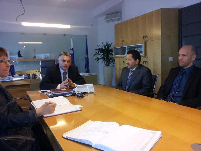 ITF-Libyan-URI Soca delegation at Minister for Health of the Republic of Slovenia