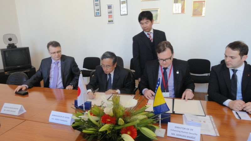 ITF signed grant contract with Japan