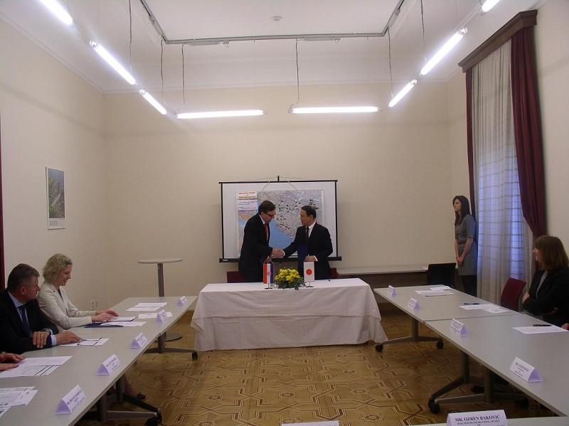 First Japan donation for Croatia through ITF