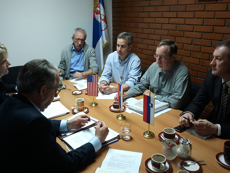 Representatives of U.S. DoS PMWRA and ITF in Serbia