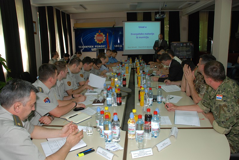 Physical Security and Stockpile Management Training in Serbia