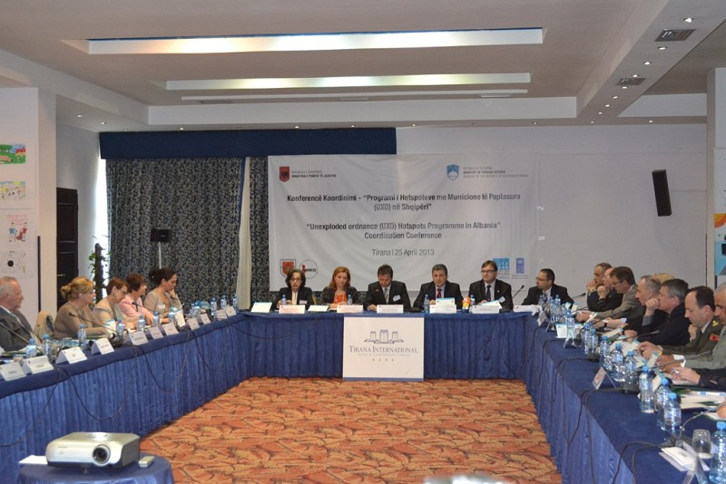 »Unexploded ordnance (UXO) Hotspots Programme in Albania« Coordination Conference held in Tirana, Albania