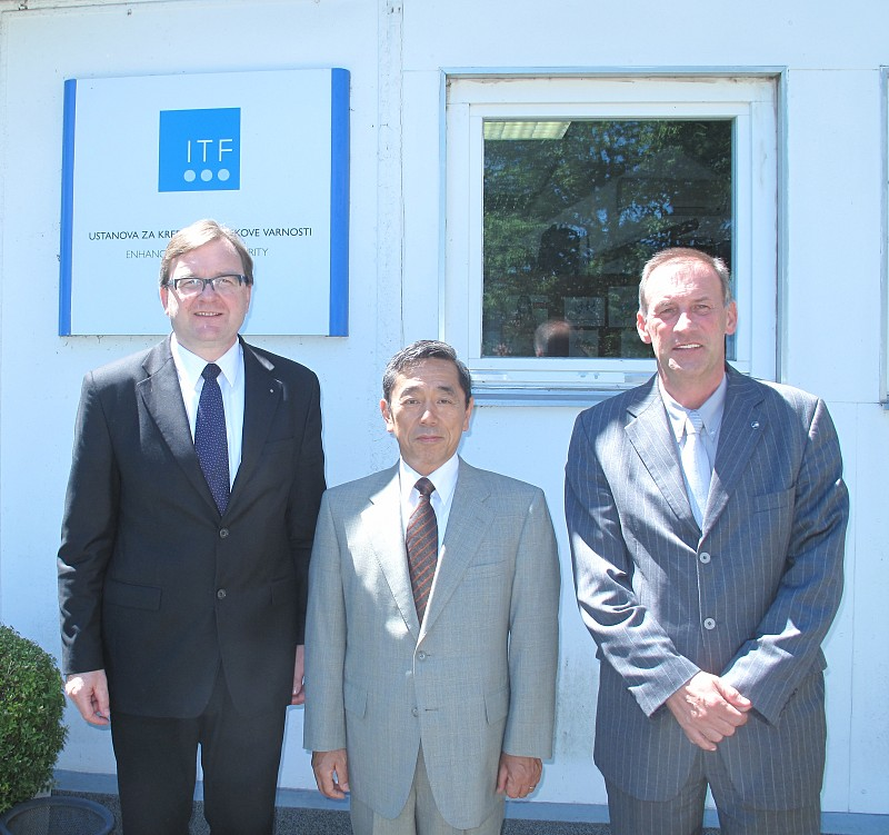 Ambassador of Japan to Slovenia H.E.Mr Shigemi Jomori visited ITF