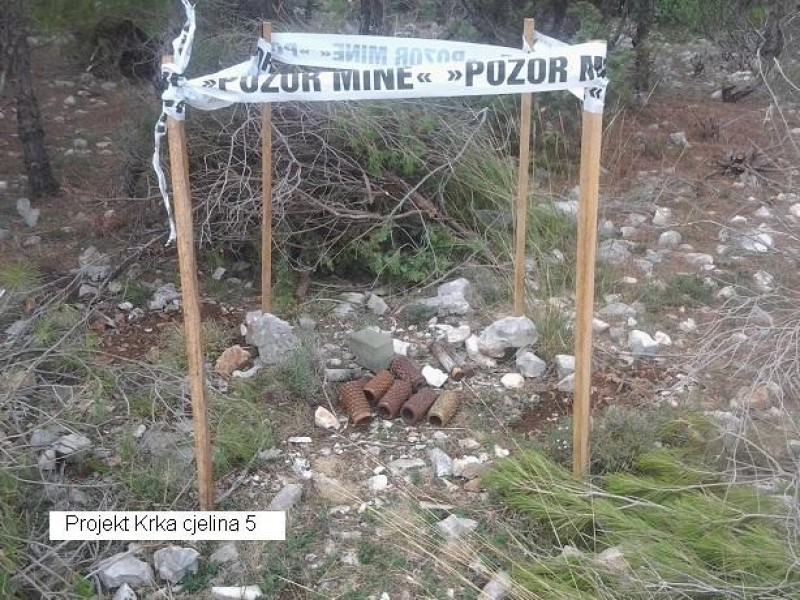 "Demining works on the project ""Area of National Park Krka"" in Šibenik Knin County in Croatia started in September 2012"