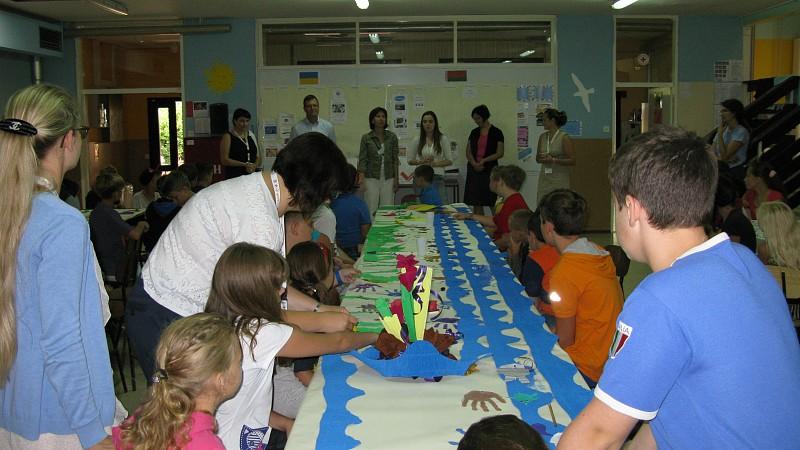 Belarusian and Ukrainian children in rehabilitation at Debeli rtič
