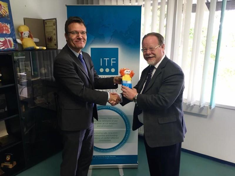 H.E. Mr. Seán O'Regan with Ambassador Damjan Bergant