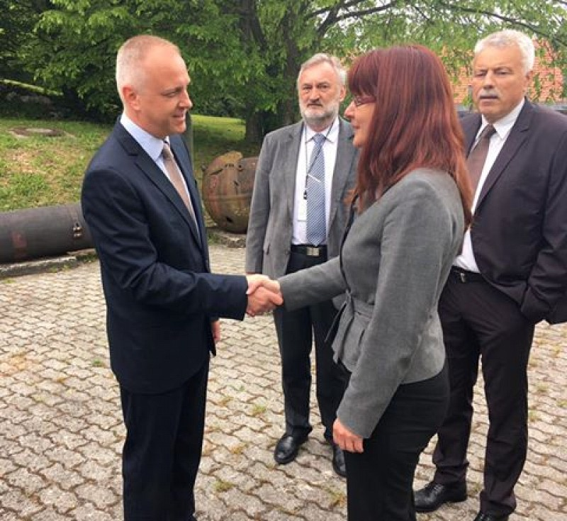 Minister of Defence, Ms. Andreja Katič meets with ITF