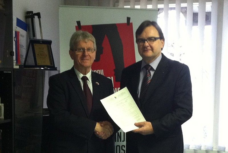 Ambassador of Czech Republic to Slovenia Mr. Petr Voznica visited ITF
