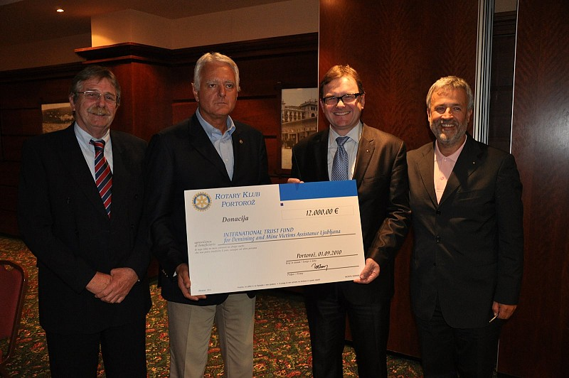 Rotary Club Portorož donation to the ITF