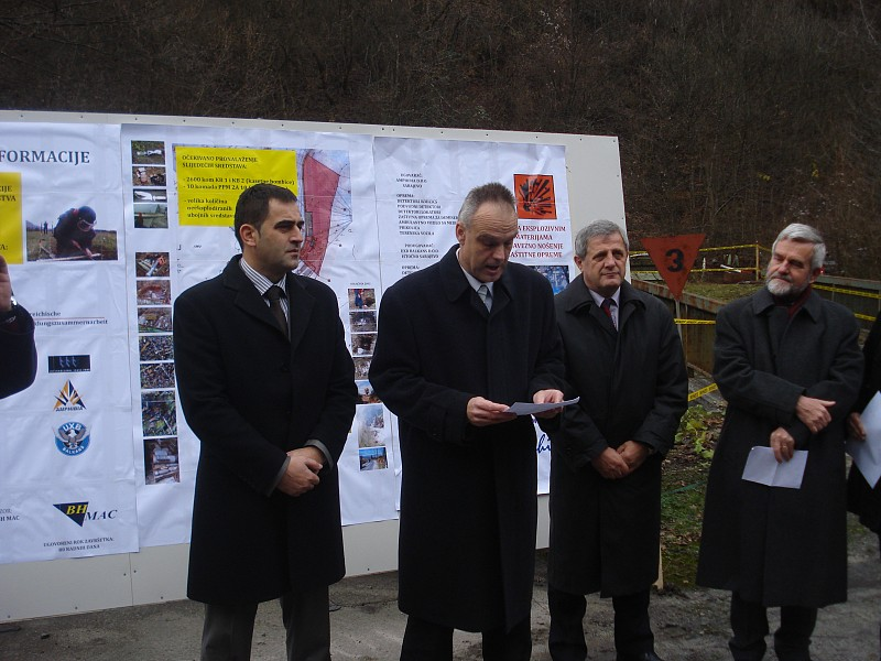 Official Opening Ceremony of the demining activities at the locations Pretis NIS in Municipality Vogošća, BH