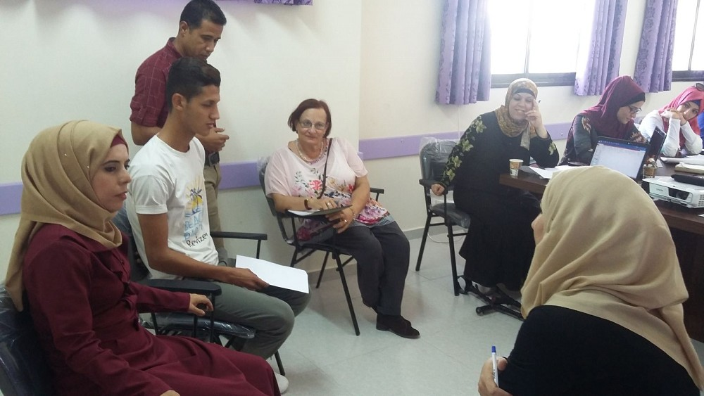 Training for volunteers/rehabilitation specialists in Gaza.