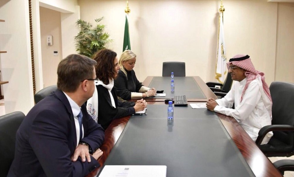 Meeting of Ambassador Miškova with the Eng. Ahmed A. Al Baiz, Assistant Supervisor General for operations and programs at King Salman Humanitarian Aid and Relief Centre.