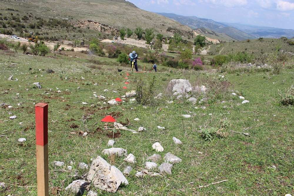 The project resulted in the removal of thousands of unexploded ordnances