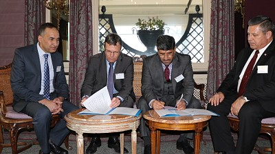 Signing of Agreement between Mine Detection Centre and ITF