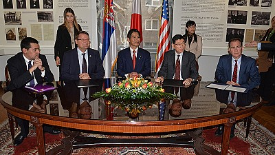 ITF and Japan Sign the First Grant Contract for Activities of Mine Clearance in Serbia