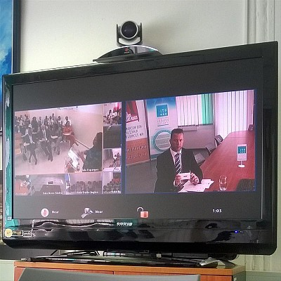 Mr Mitja Hegler, ITF Project Manager virtually attending the ceremony from Slovenia