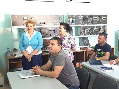 Students attending Electro-Domestic Appliances course at the Vocational Training Center in Tirana.