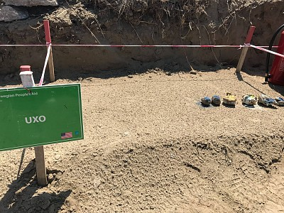 UXO discovered at Jube Sukth.