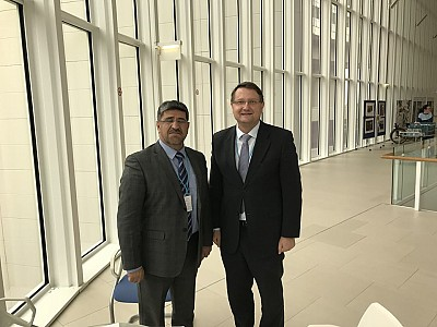Amb Lovrenčič and Mr Shohab Hakimi, MDC Afghanistan Director.