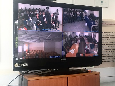 Attending inauguration through video-conference from ITF HQ.