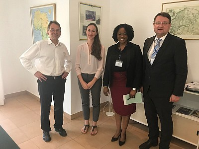 Staffan Tillander, Charge d'Affairs at Embassy of Sweden in Nigeria, Ida Höckerfelt, DCM, Chinwe Williams Chukwu, ITF/SAG DPM and Amb Lovrenčič, ITF Director.