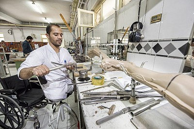 Victim assistance should not end with acquiring a prosthesis or orthosis; vocational training and access to employment are just as important in reaching psychosocial wellbeing of landmines/ERW victims. (Photo: Arne Hodalič)