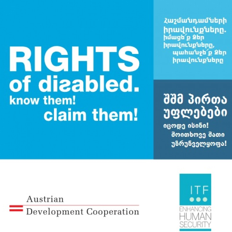 Rights of disabled. Know them! Claim them!